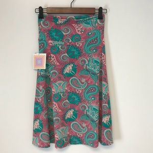 Lularoe | Azure paisley midi skirt